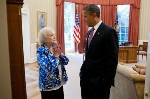 Бетти Уайт и Барак Хусейнович Обама