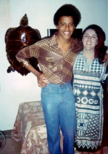 Барак Обама с матерью
