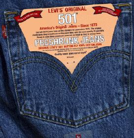 Чайка на заднем кармане джинс