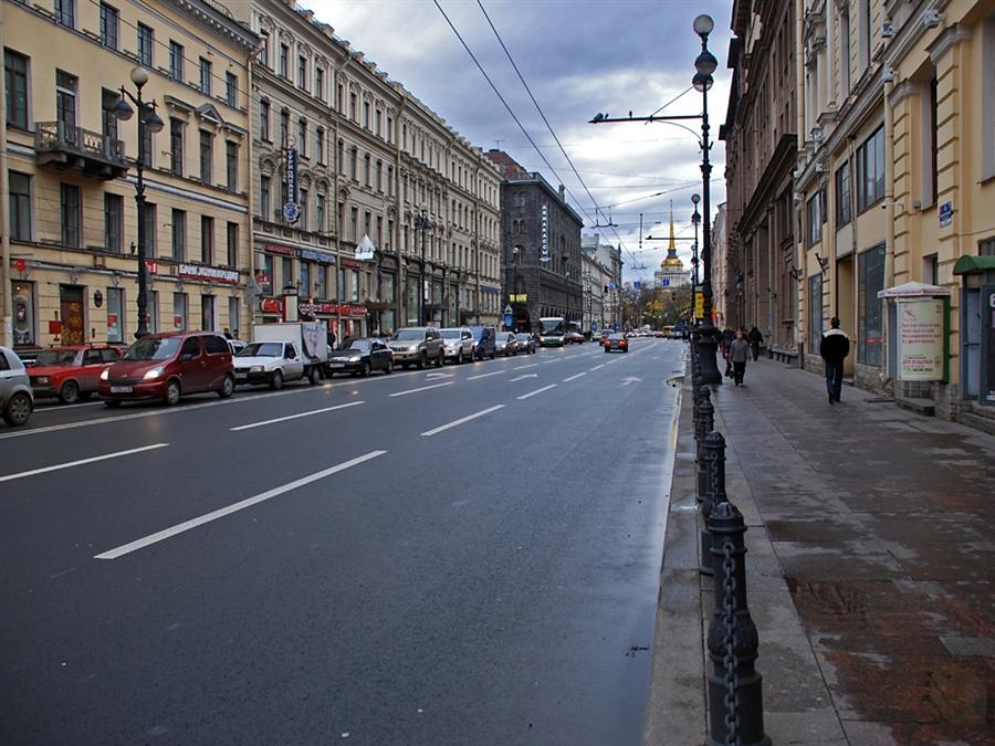Адмиралтейство с Невского проспекта